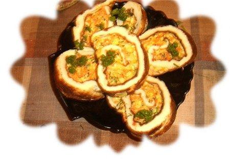 Рецепт рулета из яиц
