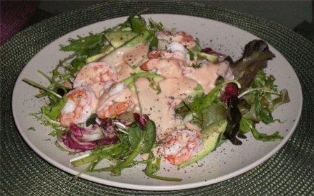 Рецепт салата с авокадо и морепродуктами