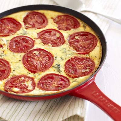Рецепт томатного пирога без теста с сыром рикотта
