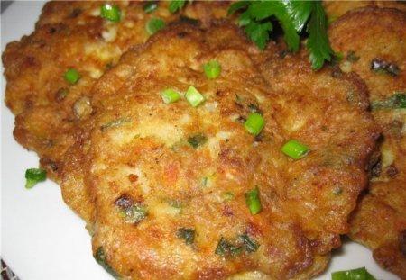 Рецепт рыбных оладьев