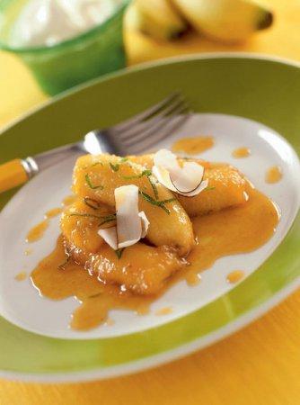 Рецепт запечённых бананов с творогом и йогуртом