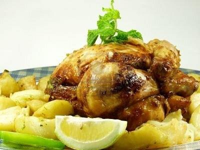 Новогодний рецепт курицы в рукаве для запекания с картофелем