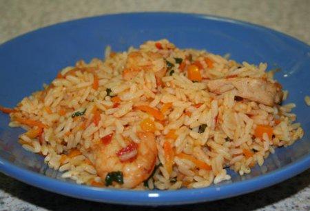 Рецепт плова с креветками