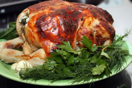 Новогодний рецепт фаршированной курицы-гриль