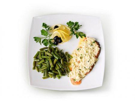 Новогодний рецепт сёмги со стручковой фасолью