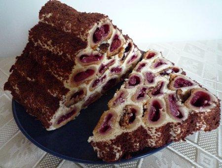Новогодний рецепт торта Монастырская изба