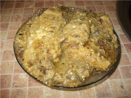 Новогодний рецепт печени в сухарях