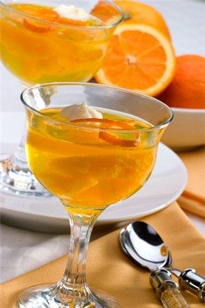 Новогодний рецепт апельсинового киселя