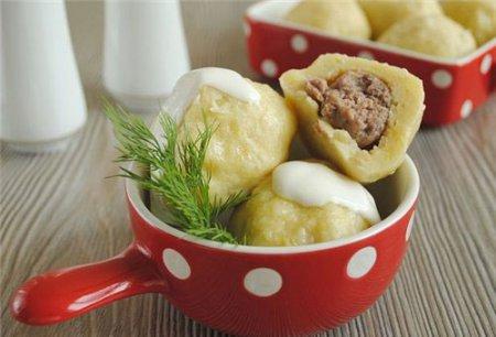 Новогодний рецепт клецок с мясом