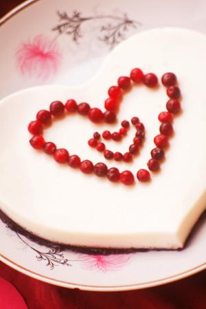 Рецепт на 14 февраля - гранатово – сливочное желе