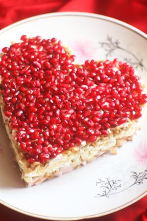 Рецепт на 14 февраля - Салат «Гранатовое сердце»
