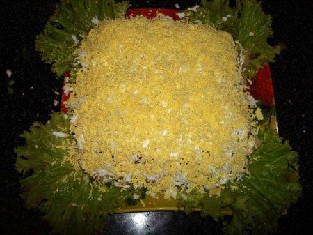 Рождественский рецепт салата из печени трески