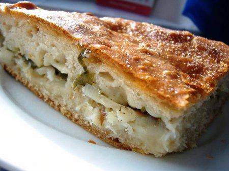 Рецепт пирога с палтусом и овощами