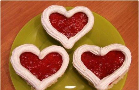 Рецепт на 14 февраля - пирожное «Валентинки»