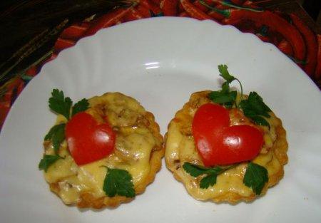 Рецепт на 14 февраля - Тарталетки от Амура