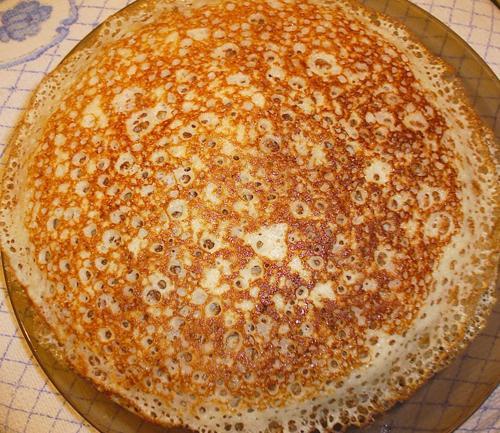 Фото рецепт тонких блинов на кефире