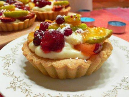 Рецепт на 14 февраля - Фруктовое пирожное