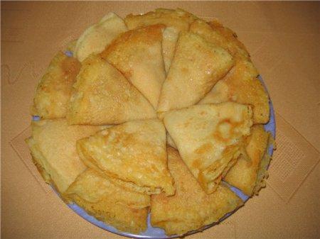 Рецепт постных блинов с картофельной начинкой - рецепт блинов на Масленицу