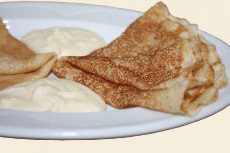 Рецепт орехово-лимонных блинчиков на сливках - рецепт блинов на Масленицу