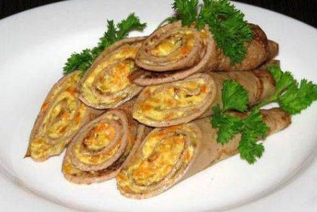 Рецепт блинов с яйцами и морковью - рецепт блинов на Масленицу