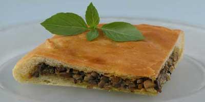 Рецепт постного пирога с солеными грибами