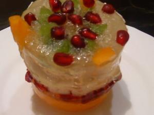 Рецепт постного ананасового желе с хурмой