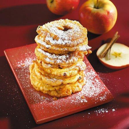 Постный рецепт яблочных колечек