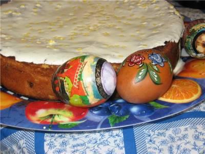 Рецепт пасхального пирога с лимонной помадкой