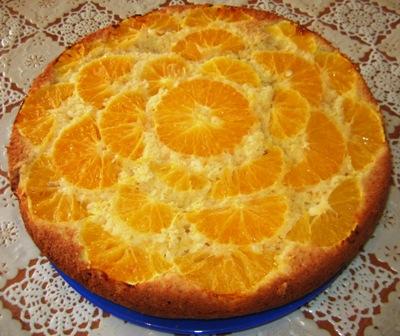 Рецепт перевернутого яблочно-апельсинового пирога