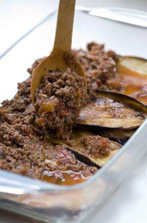 Рецепт баклажанов с мясом