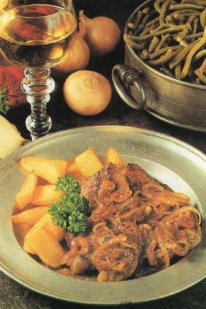 Рецепт венского антрекота с луком