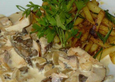 Рецепт фрикасе из грибов