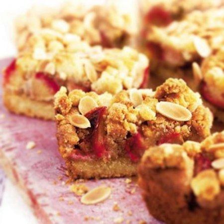 Рецепт пирога со сливами и миндалем