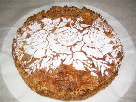 Рецепт пирога из печенья с черносливом и орехами