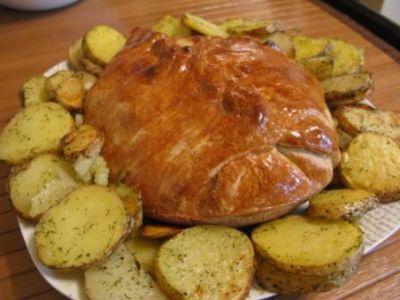 Рецепт говядины, запечённой в тесте по-русски