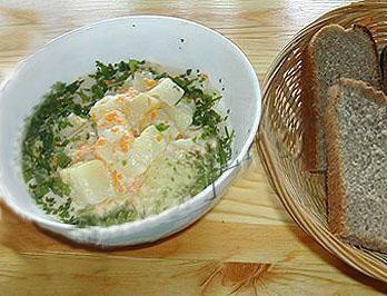 Рецепт тушеного картофеля с сыром