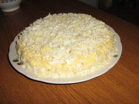 Рецепт легкого салата с курицей и грибами