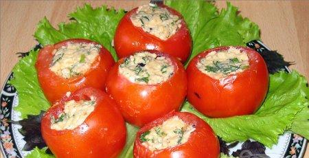Рецепт помидоров фаршированных рыбным салатом