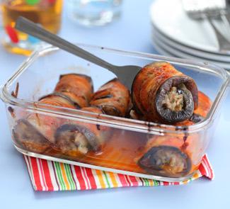 Рецепт рулетов из баклажанов с мясом