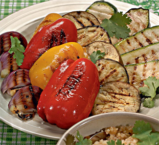 Рецепт овощей с кускусом