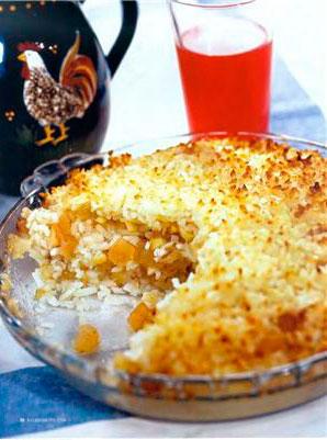 Рецепт рисовой каши с фруктами