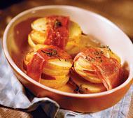 Рецепт картофельных сэндвичей с копченым сыром и ветчиной