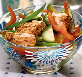 Рецепт салата с молодым картофелем и курицей