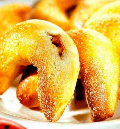 Рецепт пирожков из дрожжевого теста с начинкой из яблок и бананов