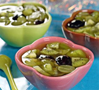 Рецепт фруктов в винном желе