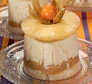 Рецепт чизкейков с ананасами