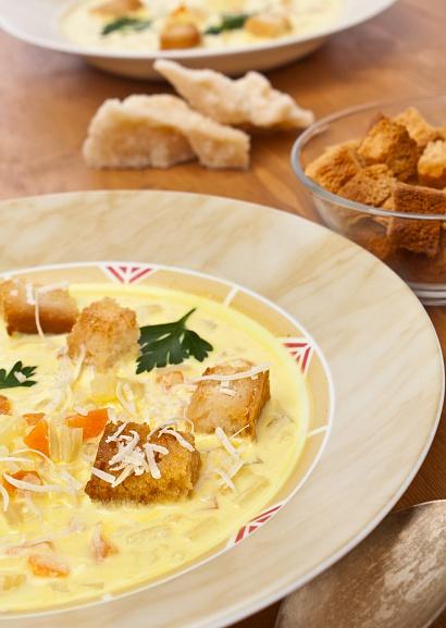 рецепт тыквенного супа с чесноком