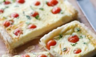 Рецепт тарта с козьим сыром и помидорами