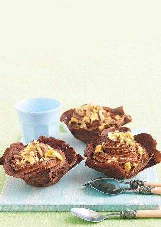 Рецепт  корзинок с шоколадным муссом