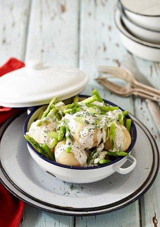 Рецепт картофельного салата со сметаной и укропом